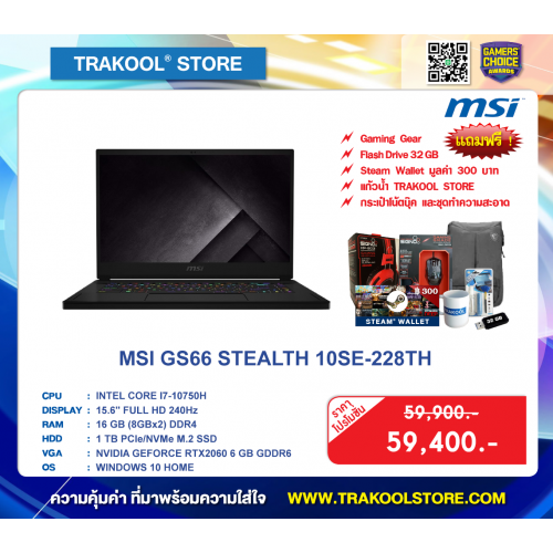 MSI GS66 STEALTH 10SE-228TH