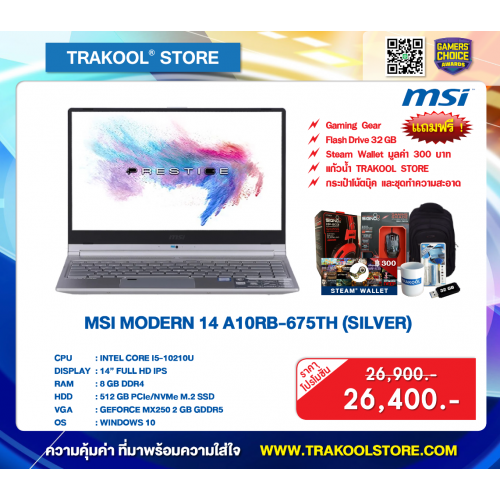 MSI MODERN 14 A10RB-675TH (SILVER)