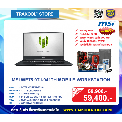 MSI WE75 9TJ-041TH